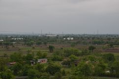 Great View of Nature. This is a great view from a tower at Khadgaon,Nagpur stock photo