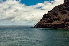 Great view over the sea from tenerife. A great view over the sea from tenerife stock photos