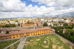 Great view of the Pisa from the leaning tower, Tuscany, Italy Stock Image