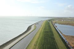 Great view from Plompe Toren in Koudekerke near the coast of the North Sea in the Netherlands.  stock photos