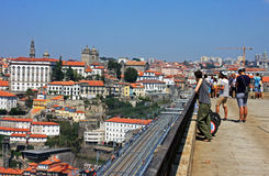 Great view of Porto from a bridge Stock Photography