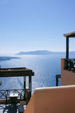 Great view restaurant. In Santorini island, Greece Royalty Free Stock Image