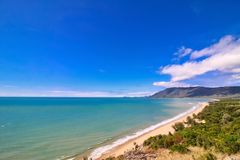 Great View At Rex Lookout In Wangetti, Qeensland, Autralia. Beautiful seascape from Rex Lookout in Wangetti, Queensland, Australia royalty free stock photography