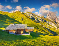 Great view on the Sassolungo (Langkofel) and Sella group Stock Images