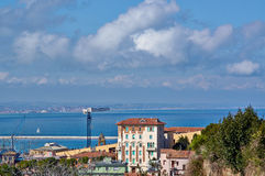 Great view sea and city of Ancona, Italy Royalty Free Stock Photo