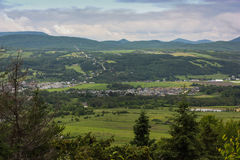 Great view of a small town. What a great view of a small town Stock Images
