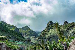 Great view of the tenerife mountains stock image