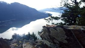 A great view from the top. After a great hike in the beautiful gorge royalty free stock photos