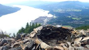 A great view from the top. After a great hike in the beautiful gorge royalty free stock photo