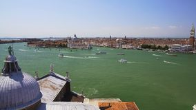 Great view of Venice and Grand Canal from Saint George church, sightseeing tour. Stock footage stock video footage