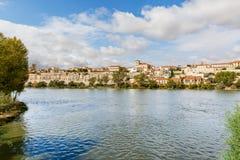 Great view of Zamora and the river bank Duero, Spain, Via de la Royalty Free Stock Photography