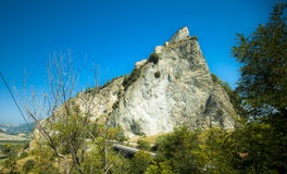 Great views of the fortress of San Leo Stock Photo