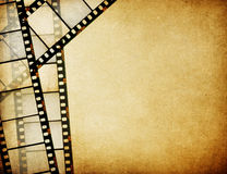 Great vintage filmstrips background. With space for your text and image Stock Photography