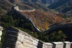 Great Wall. In beijing of china Royalty Free Stock Image