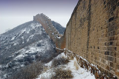 Great Wall. The snowscape of the Great Wall Royalty Free Stock Image