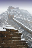 Great Wall. The snowscape of the Great Wall Stock Photo