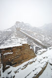 Great Wall. The snowscape of the Great Wall Royalty Free Stock Images
