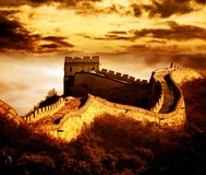 Great wall. Of Badaling,Beijing,China Stock Photos