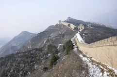 Great Wall. Badaling Beijing in Wintertime Royalty Free Stock Images