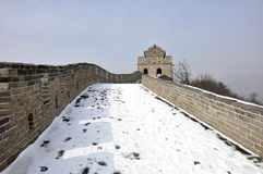 Great Wall. Badaling Beijing in Wintertime Stock Photos