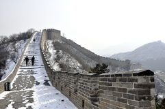 Great Wall. Badaling Beijing in Wintertime Stock Images
