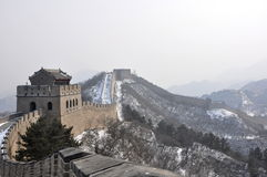 Great Wall. Skyline of the Great Wall during wintertime at Badaling close to Beijing, China Royalty Free Stock Photography