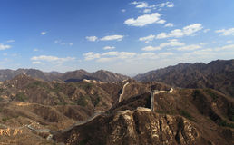 Great wall. Of China with blue sky and white clouds Stock Photos