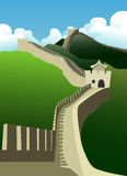 The great wall. Of china vector royalty free illustration