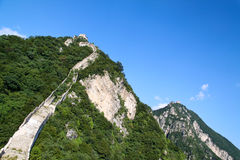The Great Wall. Of China between Jiankou and Mutianyu Royalty Free Stock Images