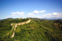 Great wall. The great wall on the hills Royalty Free Stock Photo