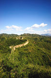 Great wall. The great wall on the hills Royalty Free Stock Photos