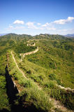 Great wall. The great wall on the hills Stock Photo