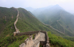Great Wall. A view of the amazing Great Wall of China stock photography