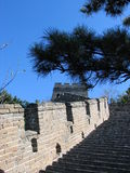 Great Wall. The Great Wall of China at Mutianyu Royalty Free Stock Images