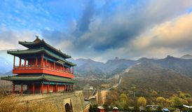 Great wall. JuYongGuan Great Wall is the most advantageous period, they were known as the best in the world with dangerous, it is 15 km away from Badaling Great Stock Photo
