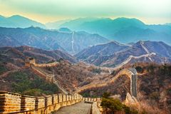 Great wall. The great wall in china beijing Royalty Free Stock Images