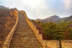 Great wall. The great wall in china beijing Stock Image