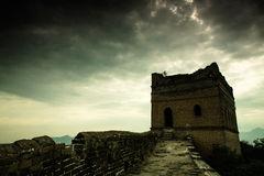 Great Wall. Towering majesty of the Great Wall, has historical charm royalty free stock photography