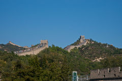 The Great Wall. Full of tourists in 1st Oct 2012 Stock Photo