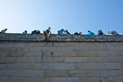 The Great Wall. Full of tourists in 1st Oct 2012 Stock Photos