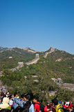The Great Wall. Full of tourists in 1st Oct 2012 Royalty Free Stock Photography