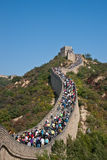 The Great Wall. Full of tourists in 1st Oct 2012 Stock Photography