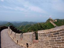 Great Wall. Photo took from Great Wall, China stock image