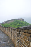 Great wall. A photo taken of the great wall from the interior with grass growing on it Stock Images