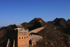 The Great Wall. View of the Great Wall of China Royalty Free Stock Photos
