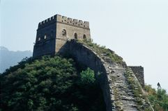 Great wall 5. Beacon tower seen in the raw Royalty Free Stock Images