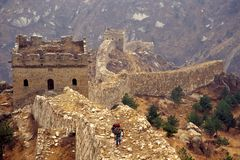 The great wall. Great Wall of China, laiyuan, hebei, china Stock Photos