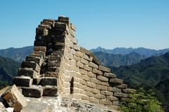 Great Wall. Beijing, China Jiankou Great Wall Ruins Royalty Free Stock Photos