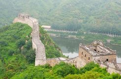 Great Wall. Beijing, China Jiankou Great Wall Ruins Royalty Free Stock Images