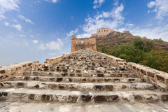 The great wall against a blue sky Royalty Free Stock Photos